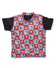 Chhota Bheem Printed Swim T-Shirt - Red Blue