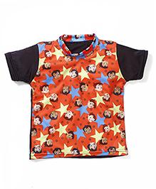 Chhota Bheem Printed Swim T-Shirt - Orange Black