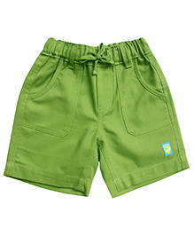Campana Plain Shorts Logo Patch - Green