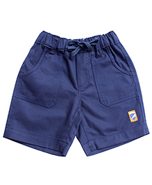 Campana Plain Shorts Logo Patch - Navy
