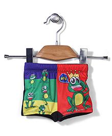 Rovars Swim Trunks Frog Print - Multicolour