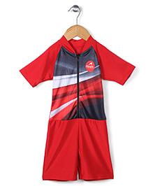 Rovars Half Sleeves Diving Suit - Red