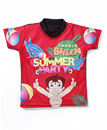 Chhota Bheem Printed Swim T-Shirt - Red