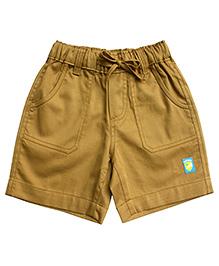 Campana Plain Shorts Logo Patch - Light Brown