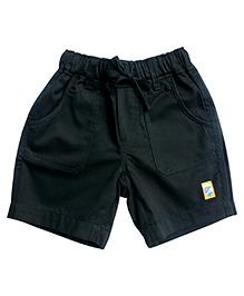 Campana Plain Shorts Logo Patch - Black