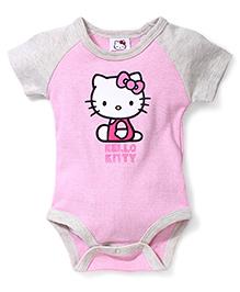 Fox Baby Half Sleeves Onesies Hello Kitty Print - Pink