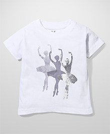 Anthill Round Neck Dancing Diva Print T-Shirt - White