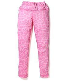 Anthill Brick Printed Track Pant - Pink
