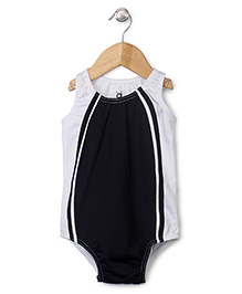 Anthill Sleeveless Swimsuit - Black And White