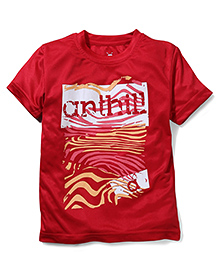 Anthill Half Sleeves T-Shirt - Red