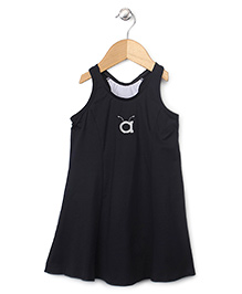Anthill Sleeveless Frock Style Swimsuit - Black