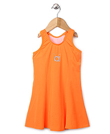 Anthill Sleeveless Frock Style Swimsuit - Neon Orange