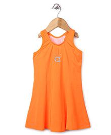 Anthill Sleeveless Frock Style Swimsuit - Neon Orange