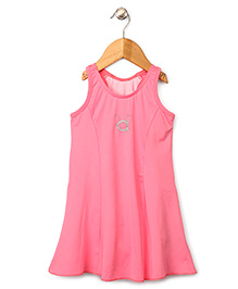 Anthill Sleeveless Frock Style Swimsuit - Neon Pink