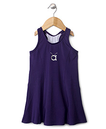 Anthill Sleeveless Frock Style Swimsuit - Purple