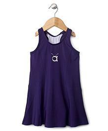 Anthill Sleeveless Frock Style Swimsuit - Purple