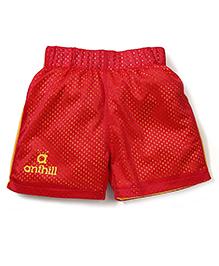 Anthill Mesh Shorts - Red & Yellow