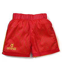 Anthill Mesh Shorts - Red & Yellow