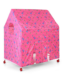 Lovely Play Tent House Cherry And Bear Print - Pink
