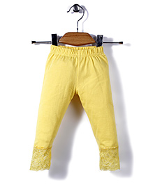 Babyhug Full Length Leggings - Yellow