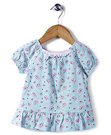 Little Wacoal Butterfly Print Dress - Aqua Blue