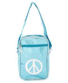 Li'll Pumpkins Peace Metallic Bag Pack - Blue