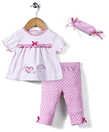 Little Wacoal Top & Pant Set - Pink