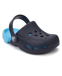 Crocs Clogs With Heel Strap - Navy And Sky Blue