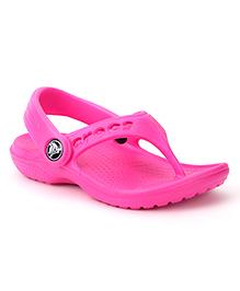 Crocs Baya Flip Flops - Fuchsia Pink