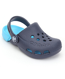 Crocs Clogs With Back Strap - Navy Blue