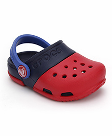Crocs Clogs With Back Strap - Red Navy