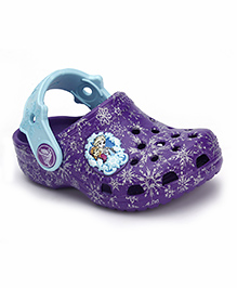 Crocs Clogs With Back Strap - Purple
