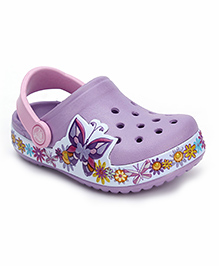 Crocs Clogs With Back Strap - Purple