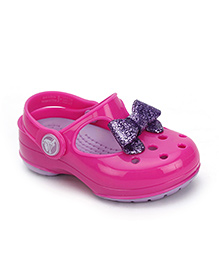 Crocs Glitter Bow Mary Jane Shoes - Pink