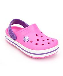 Crocs Clogs With Back Strap - Light Pink