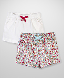 Little Wonder Set of Two Shorts - White & Multicolor