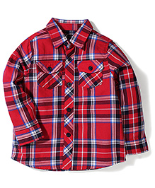 Little Wonder Checks Shirt - Red