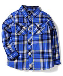 Little Wonder Checks Shirt - Blue
