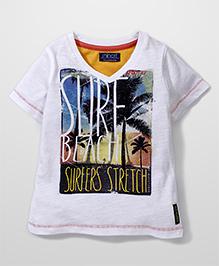 Little Wonder Surfers Print T-Shirt - White
