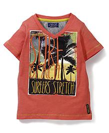 Little Wonder Surfers Print T-Shirt - Pink