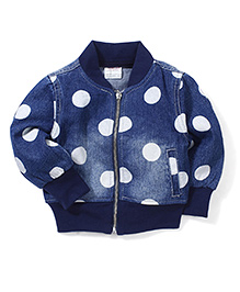 Little Denim Store Big Dot Print Jacket - Blue