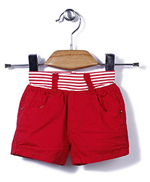 Little Denim Store Shorts - Red