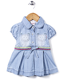 Little Denim Store Fit & Flare Dress - Blue