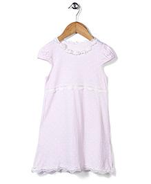 El Hogares Polka Dot Print Dress - Light Pink