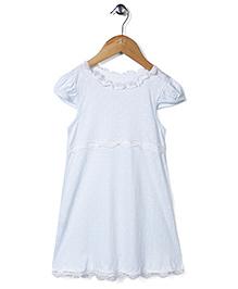 El Hogares Polka Dot Print Night Dress - Light Blue