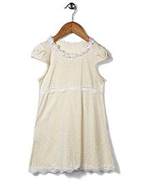 El Hogares Polka Dot Print Dress - Yellow
