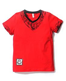 Baobaoshu Casual T-Shirt - Red