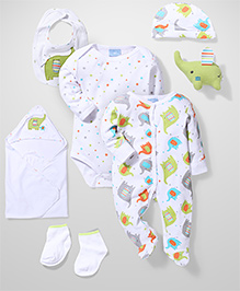 Little Wacoal Printed Multi Piece Set - White
