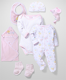 Little Wacoal Printed Multi Piece Set - Pink