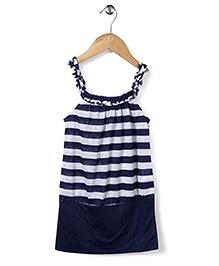 Candy Rush Stripe Print Tunic - Blue